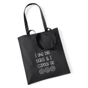 I Like Big Balls & I Cannot Lie Crochet/Knitting Cotton Tote Bag Present Crafter Stash Yarn Wool
