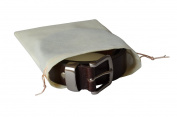 Dust bag for Leather Belts and Accessories / Range of Sizes / Drawstring Closure. (XXS