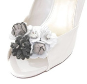Silver Glade Flower Shoe Clips
