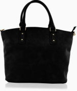 KUKUBIRD PLAIN QUALITY FAUX LEATHER DESIGNER TOTE LARGE SIZE HANDBAG
