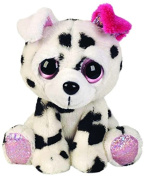 Suki Gifts Lil Peepers Fun Dixie Dalmatian with Pink Ear Plush Toy with Pink Sparkle Accents