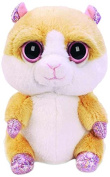 Suki Gifts Lil Peepers Fun Biscuit Hamster Plush Toy with Pink Sparkle Accents