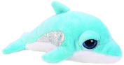 Suki Gifts Lil Peepers Fun Torpedo Dolphin Plush Toy with Silver Sparkle Accents