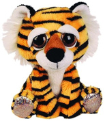 Suki Gifts Lil Peepers Fun Cheddar Tiger Plush Toy with Silver Sparkle Accents