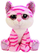 Suki Gifts Lil Peepers Fun Tiara Pink Cat Plush Toy with Pink Sparkle Accents
