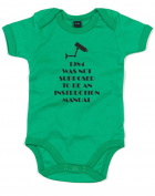 1984 Not An Instruction Manual, Printed Baby Grow