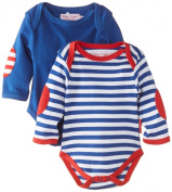 Toby Tiger Baby-Boys Organic Cotton Breton Long Sleeved T-Shirt 2-Pack Striped Sleepsuit