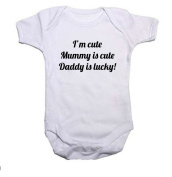 I'm Cute, Mummy Is Cute, Daddy Is Lucky Baby Grow/Vest Baby Shower Gift