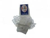 Baby/Girls Frilly Socks White (3-5.5 (GB) 19-22 (EUR)) (3-5.5 (GB) 19-22