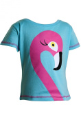Girls Flamingo Print T-Shirt