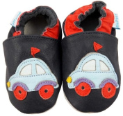 MiniFeet Soft Leather Baby Shoes, Car