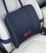 Posture Cushion - Maxi Lumbar Support Cushion With High Density Foam And Multiple Strapping, Will NOT Keep Moving Around. Great For Improving Posture And Pain Relief. Helps Prevent Back Pain While Sitting In The Car Home And Office. Available With Blac ..
