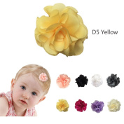 Baby Wispy Clippy - carnation hair bows - Best No Slip Barrette for Fine Hair
