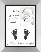 BabyRice New Baby Hand and Footprint Kit with Display Photo Frame - YOUR baby's handprints! **Choice of frames available on this listing** (OURS