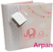 Arpan Baby Girl Large Photo Album Holds 200 Photos (10cm x 15cm ) Best Gift - Pink
