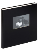 Walther 30 x 30 cm Book Bound Charm Photo Album with Die Cut, Black