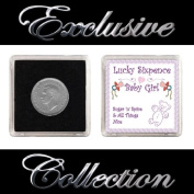 "LUCKY SIXPENCE FOR NEW BORN BABY ""GIRL"""