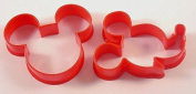 Mickey Mouse Cookie Cutter Set, Biscuit, Pastry, Fondant Cutter