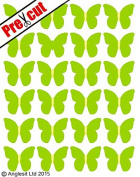 PRE-CUT GREEN HAWAIIAN BUTTERFLY EDIBLE RICE / WAFER PAPER CUP CAKE TOPPERS PARTY DECORATION