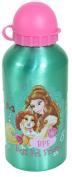 DISNEY PRINCESS GIRLS POP UP ALUMINIUM JUICE DRINK WATER TRAVEL BOTTLE GREEN NEW