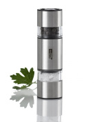 AdHoc Double Mill, Duo Mill, Mini, for Salt and Pepper with Ceramic Grinder, H 11 cm, MP12