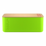 Bodum Bistro Bread Box Bin with Bamboo Lid in Lime Green