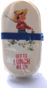 Bento Box with Fork and Spoon Vintage Boy Design