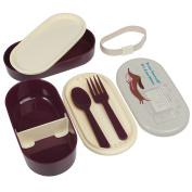 Bento Box with Fork and Spoon Sausage Dog Design