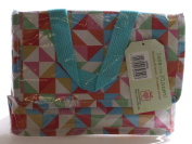 Multicolour Geometric Design Recycled Foil-lined Lunch Bag