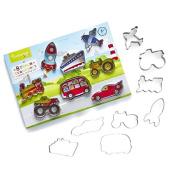 8 Piece Transport Cookie Cutter Set.