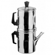 Ilsa 0006 012 Napoletana Espresso Coffee Maker Polished Aluminium 12 Cups