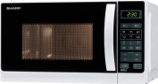 Sharp R-642(W)W - microwave oven with grill - freestanding - white