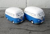 NEW VW Camper Van Salt and Pepper Pots / Cruet Set - Dark Blue