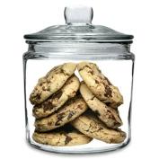 Utopia Biscotti Jar Small 0.9ltr | Food Storage Jar, Glass Jar, Push Top Jar