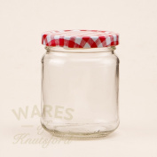 12 x 8oz jam jars (228mls) with red gingham lids