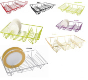 Kitchen, Craft, Stainless Steel, Chrome ,Coloured, Metal Wire, Sink Top, Dish Drainer, Plate Rack, Holder