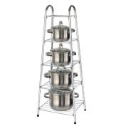5 Tier Pan Stand Saucepan Rack Unit Organiser Kitchen Pot Storage