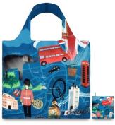 LOQI Urban Reusable London Design Tote Shopping Bag