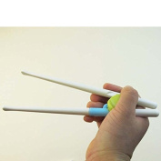 HuaYang Green Easy ABS Safe Children Toddler Right Training Chopsticks for 2 years + Kids