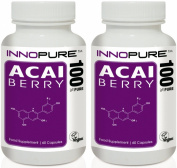 Acai Berry Extract Duo Saver Pack | 100% Pure Grade & Natural Source of Acai | 120 Capsules, 2 Month Supply | Innopure®