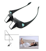 Denshine (TM) Lazy Reader, Lazy Lying Down Bed Reading Watching TV Horizontal Prism Angled Glasses, Lazy Glasses