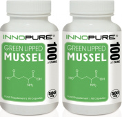 Innopure® Green Lipped Mussel Duo Saver Pack | 100% Pure, No Fillers or Binders, High Grade | 500mg x 180 Capsules