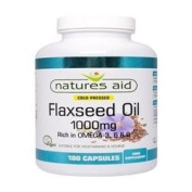 Natures Aid Flaxseed Oil 1000Mg 180 Capsule