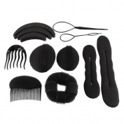Beauty7 Hair Styling Accessories Tools Set 7 Types Styling Tools Buns Formers/Doughnuts/Hair Braid/Hair comb bun shaper/hair insert bun shaper