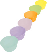 Casabella Boxed Muffin Cup, Large, Multicolor, Set of 6