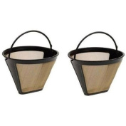 Medelco GF214CB #4 Cone Permanent Golden Coffee Filter 2 pack