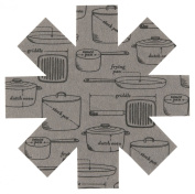 Now Designs Pan Pots and Pans Print Protectors, Grey, Set of 3
