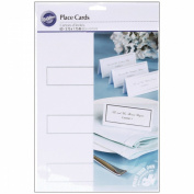 PLACE CARDS SILVER BORDER 60CT