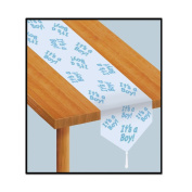Beistle 54222 Printed it's a Boy Table Runner, 28cm by 1.8m