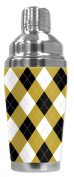 Mugzie® brand 470ml Cocktail Shaker with Insulated Wetsuit Cover - Argyle